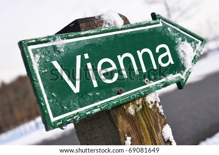 Vienna road sign