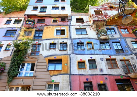 VIENNA - SEPTEMBER 6: Hundertwasser Haus on September 6, 2011 in Vienna. The iconic building by famous architect is one of reasons to visit Vienna.