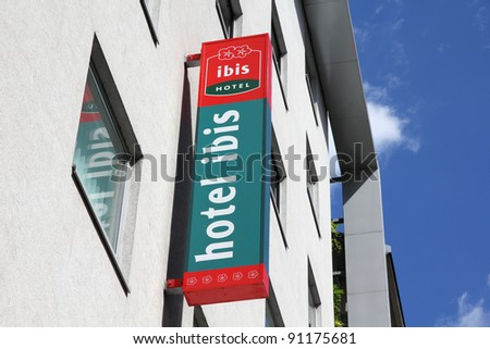 VIENNA - SEPTEMBER 6: Ibis Hotel on September 6, 2011 in Vienna. Hotel Ibis is an international brand with 900 budget hotels in 40 countries owned by Accor. 900th hotel was opened in January 2011.