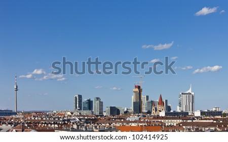 Vienna Skyline Donauplatte with Donauturm