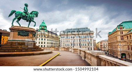 Vienna State Opera and old city view, Austria