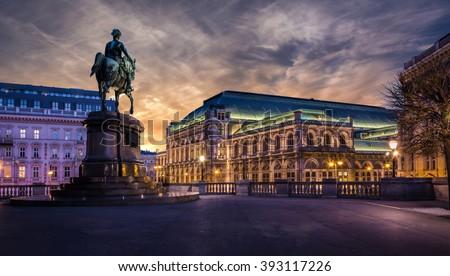 Vienna state opera at dawn
