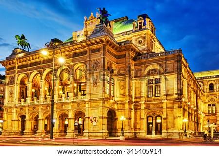 Vienna State Opera is an opera house.It is located in the centre of Vienna, Austria. It was originally called the Vienna Court Opera (Wiener Hofoper)