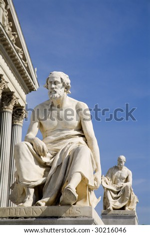 Vienna - Thucydides philosopher statue for parliament