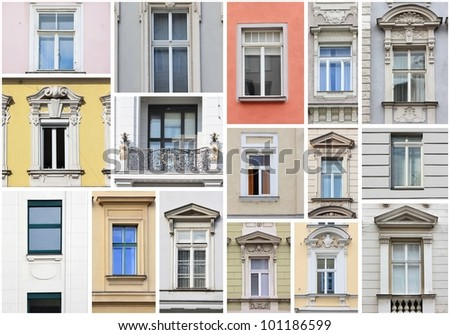 Vienna windows - collage