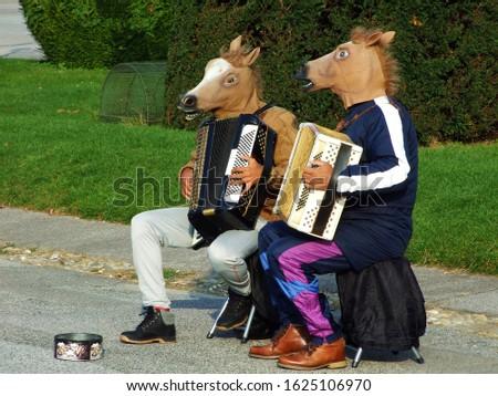 Viennese street musicians and entertainers - Vienna, Austria
