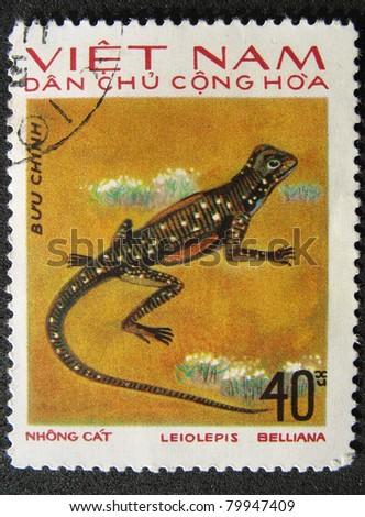 VIETNAM - CIRCA 1983: A stamp printed in Vietnam shows animal reptile, circa 1983