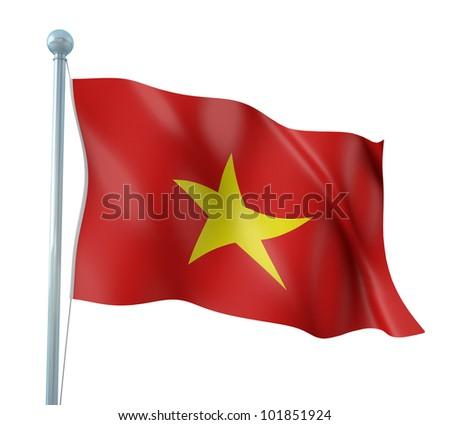 Vietnam Flag Detail Render