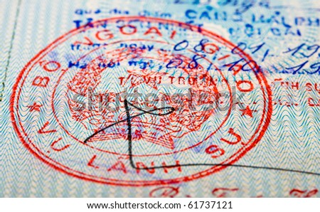 Vietnam passport stamp