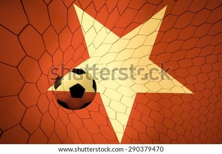 Vietnam soccer ball vintage color #290379470