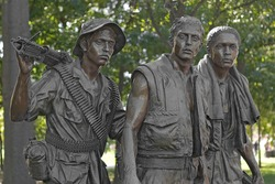 Vietnam War Memorial Statue (The Three Soldiers)