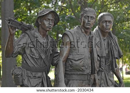 Vietnam War Memorial Statue (The Three Soldiers)
