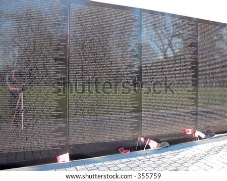 Vietnam War Wall Memorial, Washington D.C. Zdjęcia stock ©