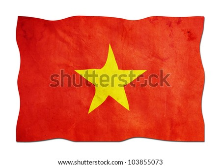 Vietnamese Flag made of Paper