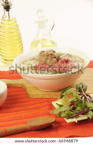 Vietnamese food pho oxtail