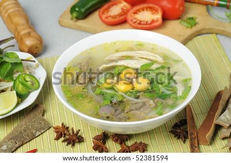 Vietnamese noodles or pho