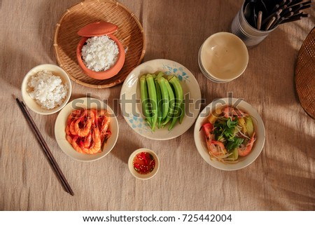 Vietnamese Traditional Meal in Country side