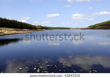 View across Loch Craggie Sutherland Highlands Scotland