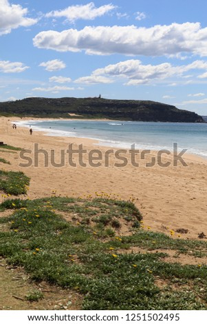 View across the beach to Barrenjoey Lighthouse