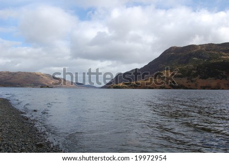 View across Ullswater in the Lake District, Cumbria, England #19972954