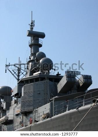 View at a battleship