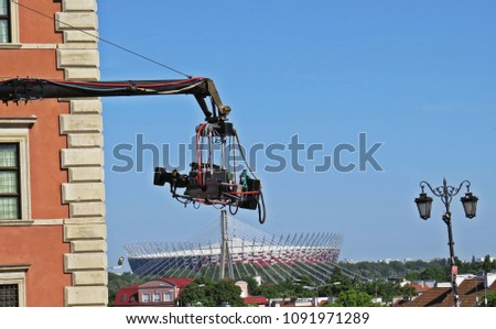 View at a Camera with National Stadium at Background, Warsaw, Poland #1091971289