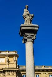 View at Column of Abundance at Piazza della Repubblica in Florence, Italy