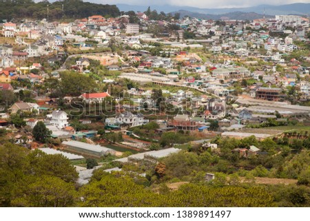 View at  Dalat, central highland,Vietnam, Southeast Asia, Asia