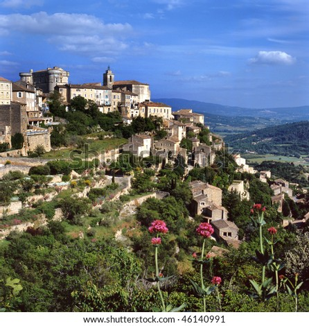 View at Gordes, the most beautiful city of the Provence,France