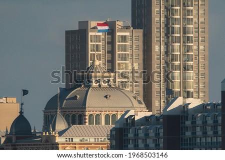 View at  'Het Kurhaus' in Scheveningen, The hague, The Netherlands Foto stock ©