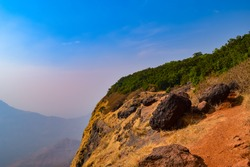 View at Matheran a hill station nestled in western ghats of Maharashtra, India.