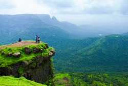 View at Matheran, Maharashtra. Matheran is a hill station near Mumbai on Sahyadri range of western ghat, India.