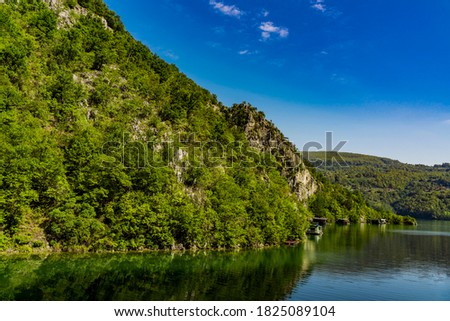 View at Perucac artificial lake on the Drina River in Serbia Stock photo ©