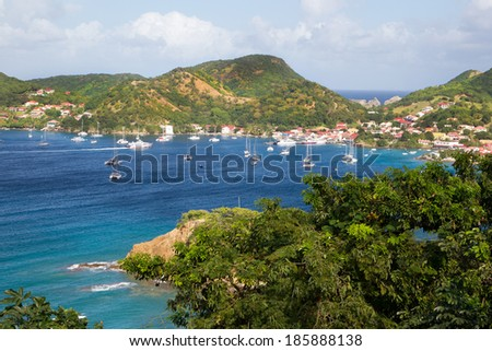 View at the caribbean island Martinique.