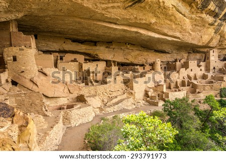 View at the Cliff Palace in Mesa Verde Stock photo ©