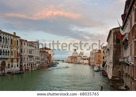 View at the Grand Canal in Venice, Italy