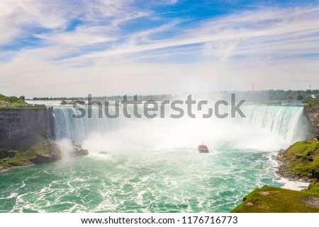 View at the Hoseshoe falls of Niagara Falls - Canada #1176716773