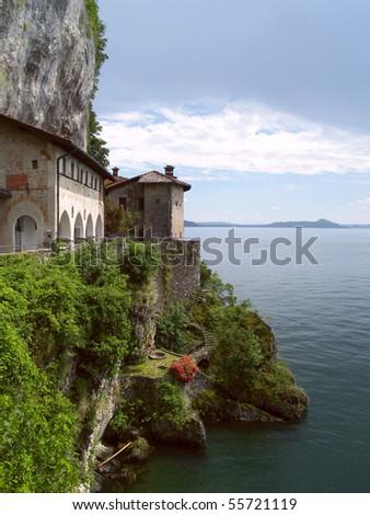 View at the monastery of Santa Caterina at Lago Maggiore