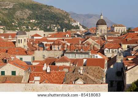 View at the Old Town in Dubrovnik