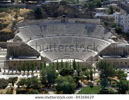 View at the roman amphitheatre in  Amman,Jordan