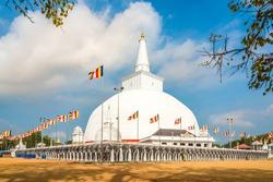 View at the Ruwanweli Maha Seya Stupa in Anuradhapura - Sri Lanka