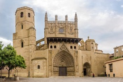 View at the Saint Mary Cathedral of Huesca - Spain
