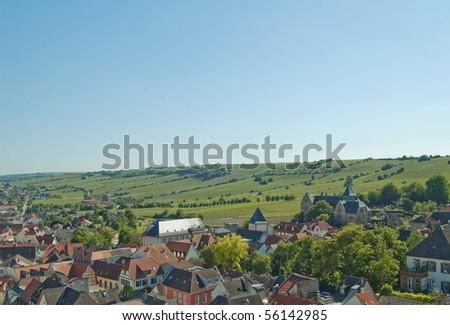 View at the wineyards of Oppenheim, Rheinhessen Germany