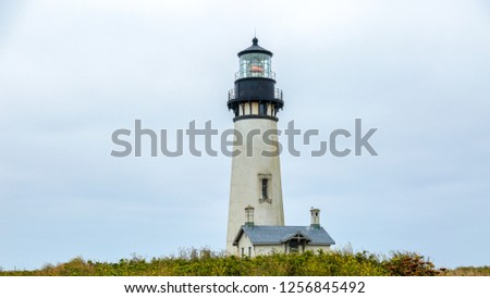 View at Yaquina Head lighthouse, Oregon Coast