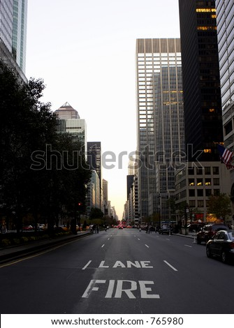 View down park avenue corner of 50th street, manhattan, new york, america, usa