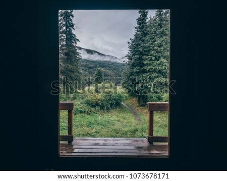 view from a cabin in alaska...