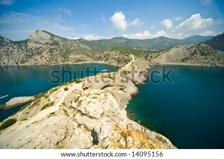 view from a cape - stock photo