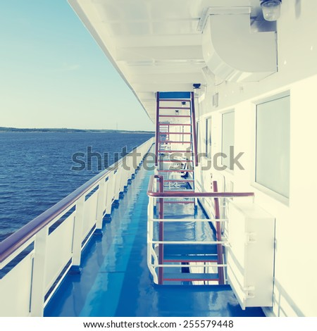 view from a cruise ship deck on ...