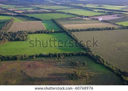 View from a hot air balloon
