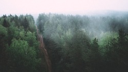 View from a Watch Tower in Ogre, Latvia